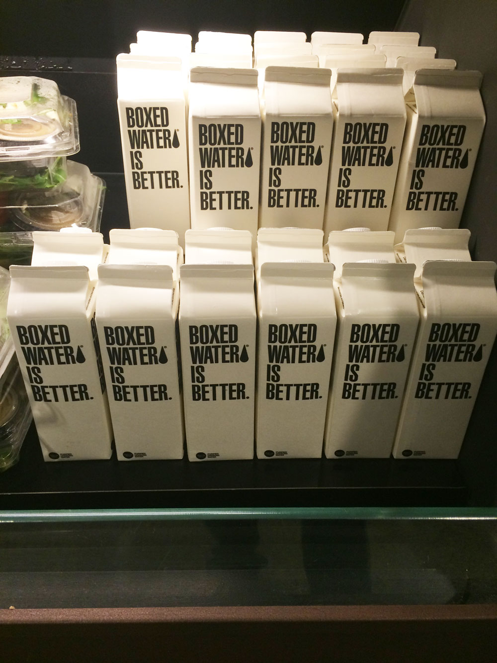 Did you know that boxed water is a thing? Me either.